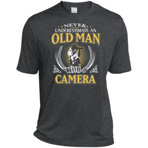 Never underestimate an old man with camera sport t-shirt