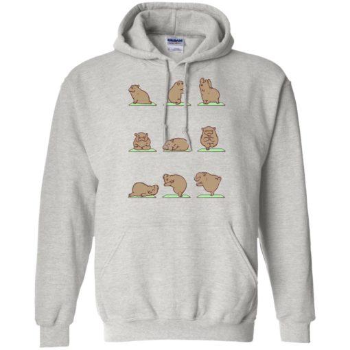 Hippie yoga shirt funny hippo yoga pose downward hippopotamus class hoodie
