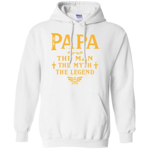 Papa the man myth the legend gift for gaming papa grandpa daddy hoodie
