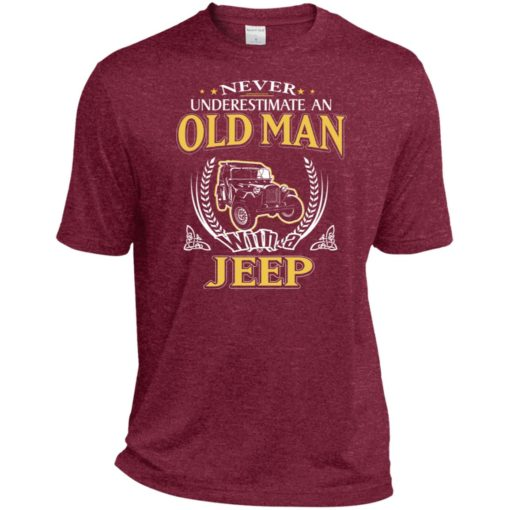 Never underestimate an old man with jeep sport t-shirt