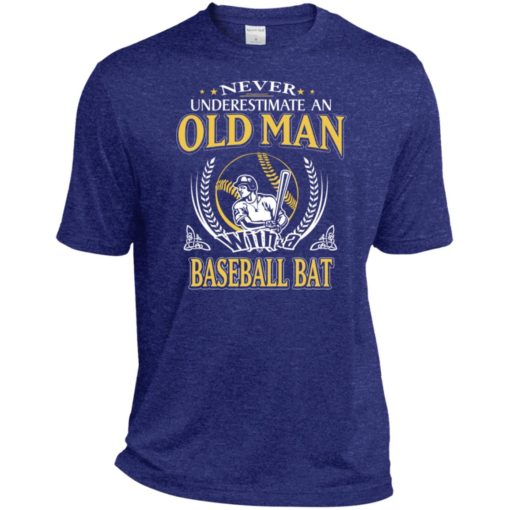 Never underestimate an old man with baseball bat sport t-shirt