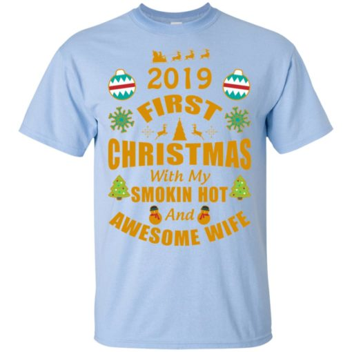 2019 first christmas with my new wife t-shirt