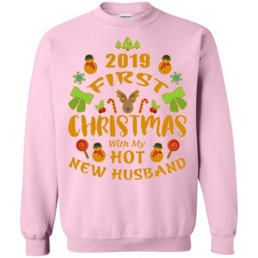 2019 first christmas with my new husband sweatshirt