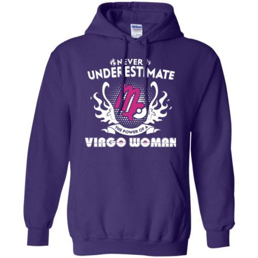 Never underestimate the power of virgo woman hoodie