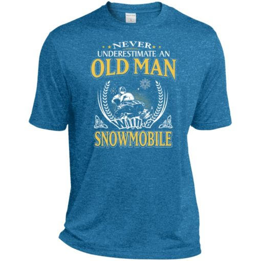 Never underestimate an old man with snowmobile sport t-shirt