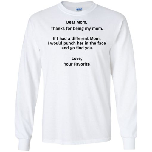 Funny dear mom punch in the face coffee mug long sleeve