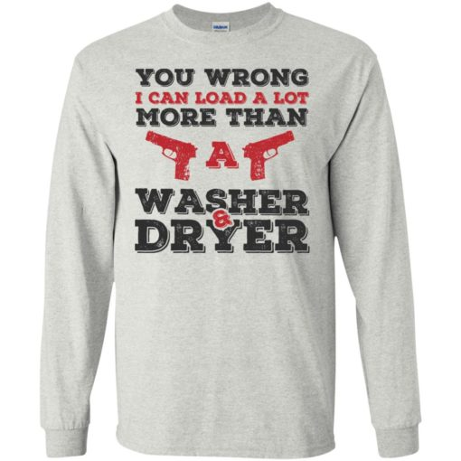 I can load more than a washer dryer long sleeve