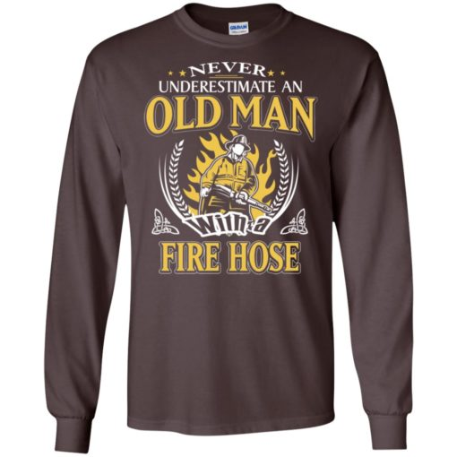 Never underestimate an old man with fire hose long sleeve