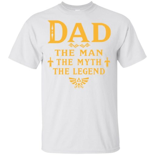 Dad the man myth the legend gaming dad best gift for gamers t-shirt