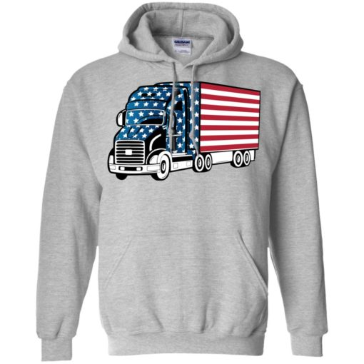 American trucker gift perfect gift for a truck driver hoodie
