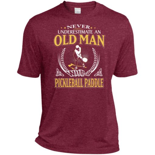 Never underestimate an old man with pickleball sport t-shirt