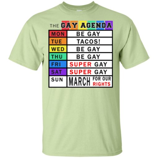 Gay days of the week agenda funny gift t-shirt