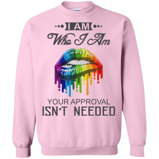 I'm who i am your approval isn't needed sweatshirt