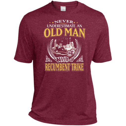 Never underestimate an old man with recumbent trike sport t-shirt