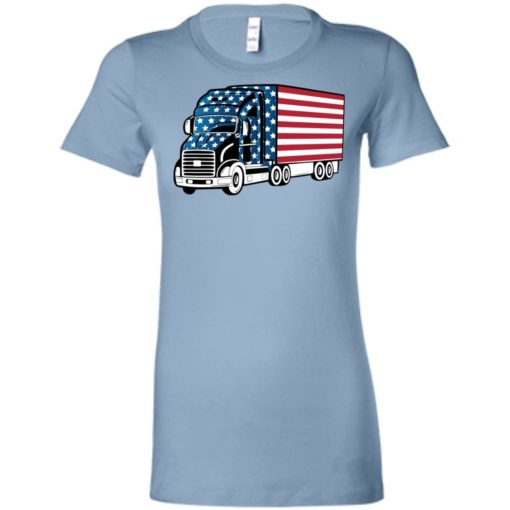 American trucker gift perfect gift for a truck driver women tee