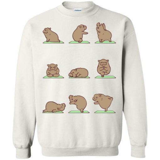 Hippie yoga shirt funny hippo yoga pose downward hippopotamus class sweatshirt