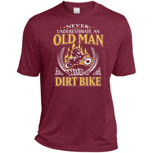 Never underestimate an old man with dirt bike sport t-shirt