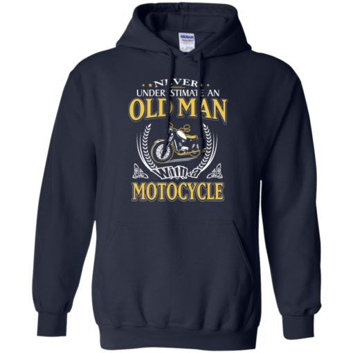 Never underestimate an old man with motocycle hoodie