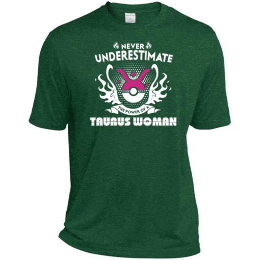 Never underestimate the power of taurus woman sport t-shirt