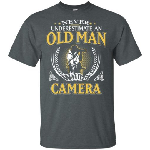 Never underestimate an old man with camera t-shirt
