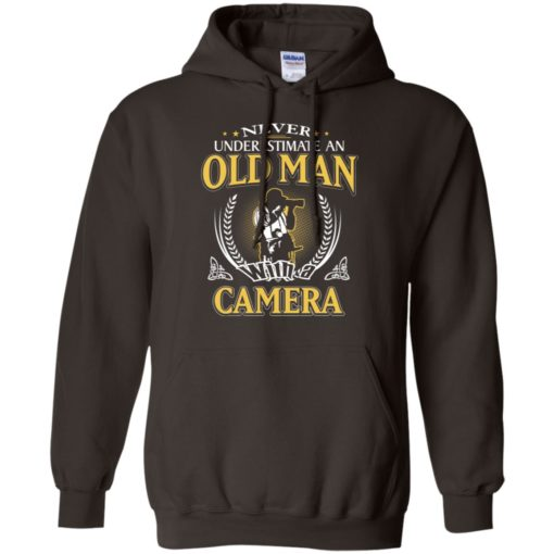 Never underestimate an old man with camera hoodie