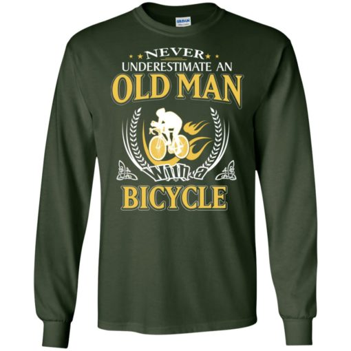 Never underestimate an old man with bicycle long sleeve
