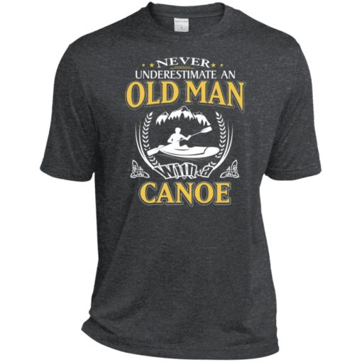 Never underestimate an old man with canoe sport t-shirt