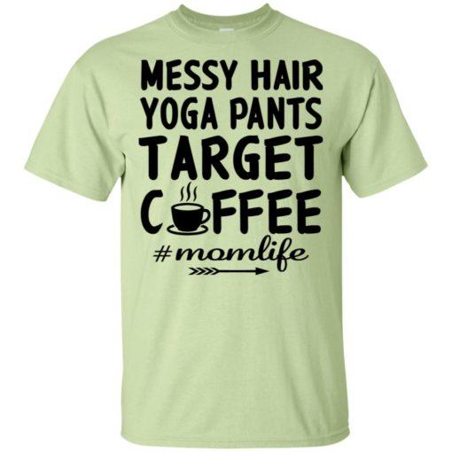 Gift for yoga mom messy hair yoga pants target coffee t-shirt