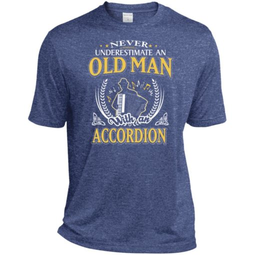 Never underestimate an old man with accordion sport t-shirt