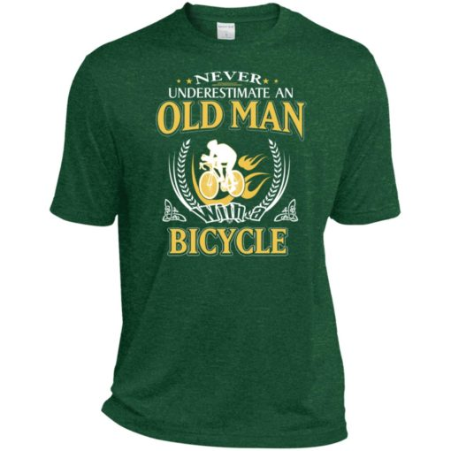 Never underestimate an old man with bicycle sport t-shirt