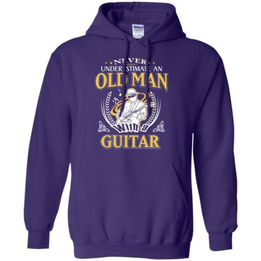 Never underestimate an old man with guitar hoodie
