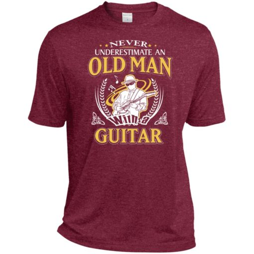 Never underestimate an old man with guitar sport t-shirt