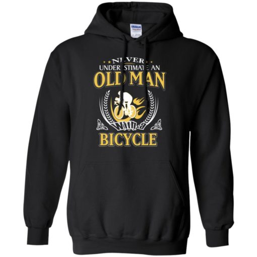 Never underestimate an old man with bicycle hoodie