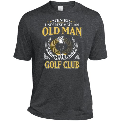 Never underestimate an old man with golf club sport t-shirt