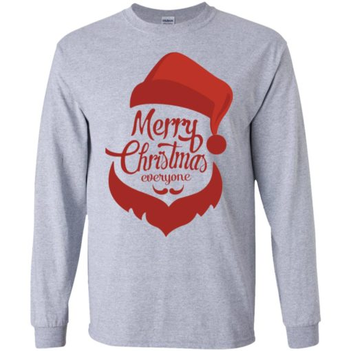 Dabbing santa christmas sweater merry christmas everyone christmas pregnancy shirts long sleeve