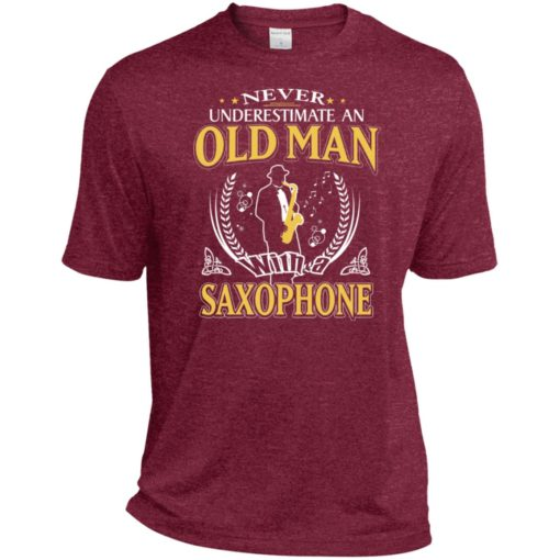 Never underestimate an old man with saxophone sport t-shirt