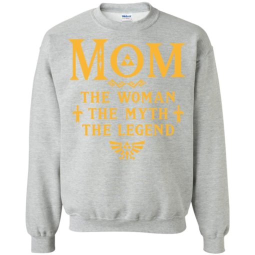 Mom the woman the myth the legend gaming mom cute gift sweatshirt