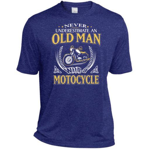 Never underestimate an old man with motocycle sport t-shirt