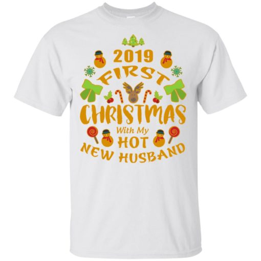 2019 first christmas with my new husband t-shirt