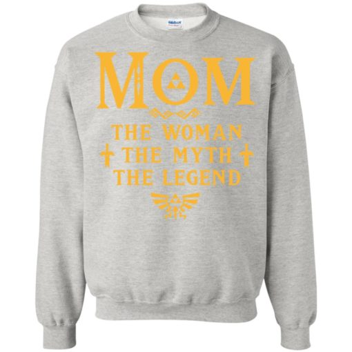 Mom the woman the myth the legend gaming mom cute gift sweatshirt