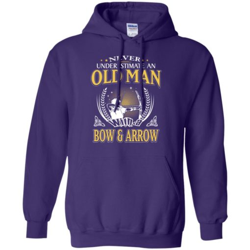 Never underestimate an old man with bow & arrow hoodie