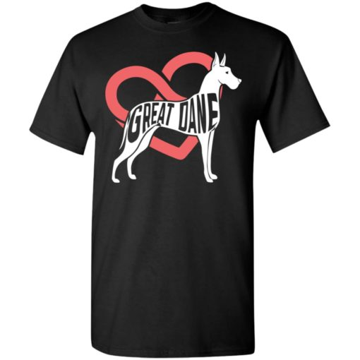 Dog lovers gift great dane infinite love t-shirt