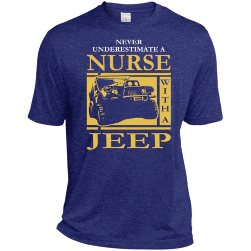 Nurse lover never underestimate nurse with a jeep sport t-shirt