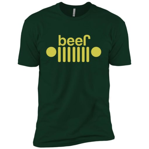 Jeep and beer lover premium t-shirt