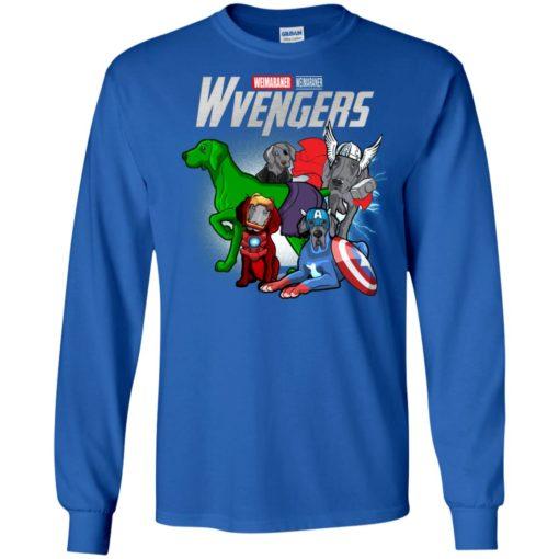 Weimaraner wvengers marvel avengers endgame long sleeve