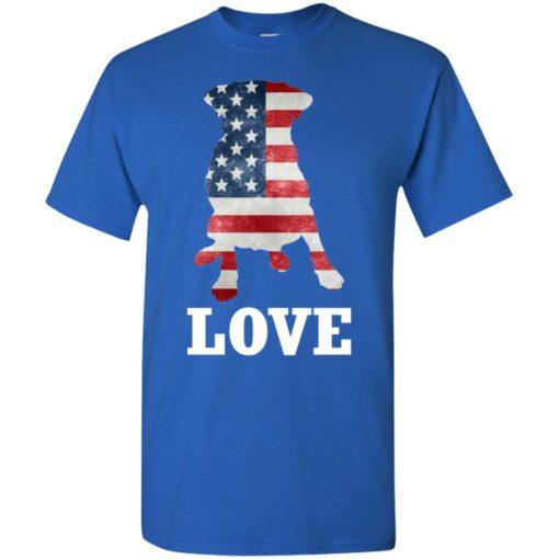 Dog lovers gift patriotic american flag dog t-shirt