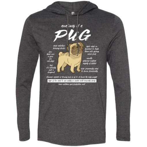 Dog lovers gift anatomy of a pug long sleeve hoodie