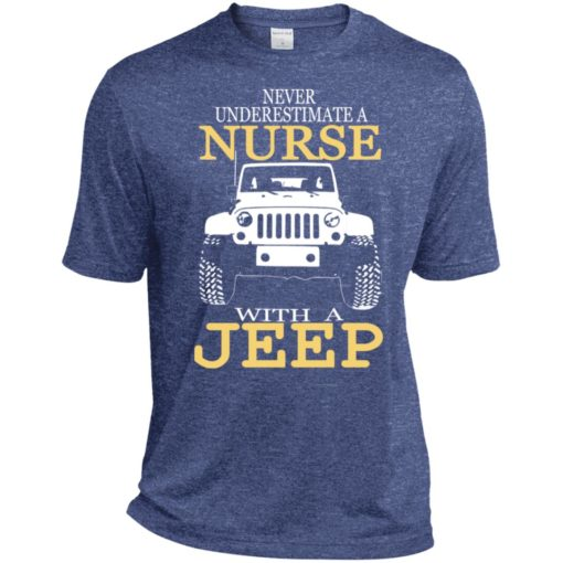 Never underestimate nurse with jeep sport t-shirt