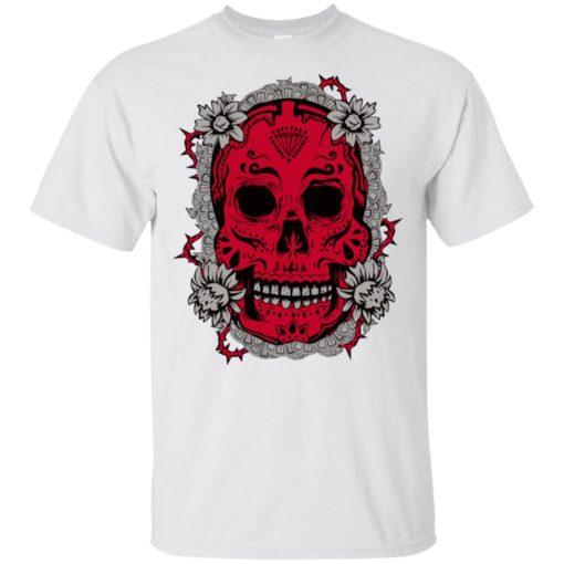 Mexican skull art 6 skeleton face day of the dead dia de los muertos t-shirt