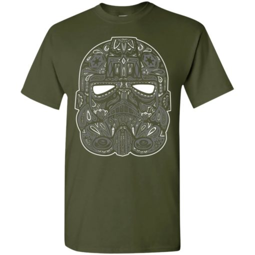 Mexican skull art 9 skeleton face day of the dead dia de los muertos t-shirt